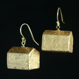 Gold leaf hotel earrings - Amy Jewelry  - 2