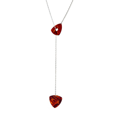 Guitar pick lariat necklace