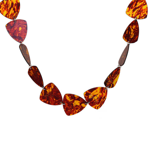 Guitar pick link necklace