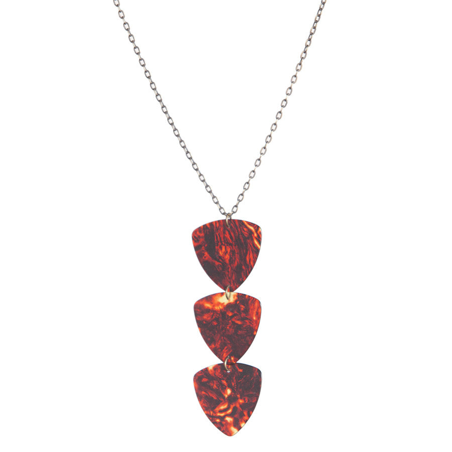 Guitar pick triple pendant - Amy Jewelry