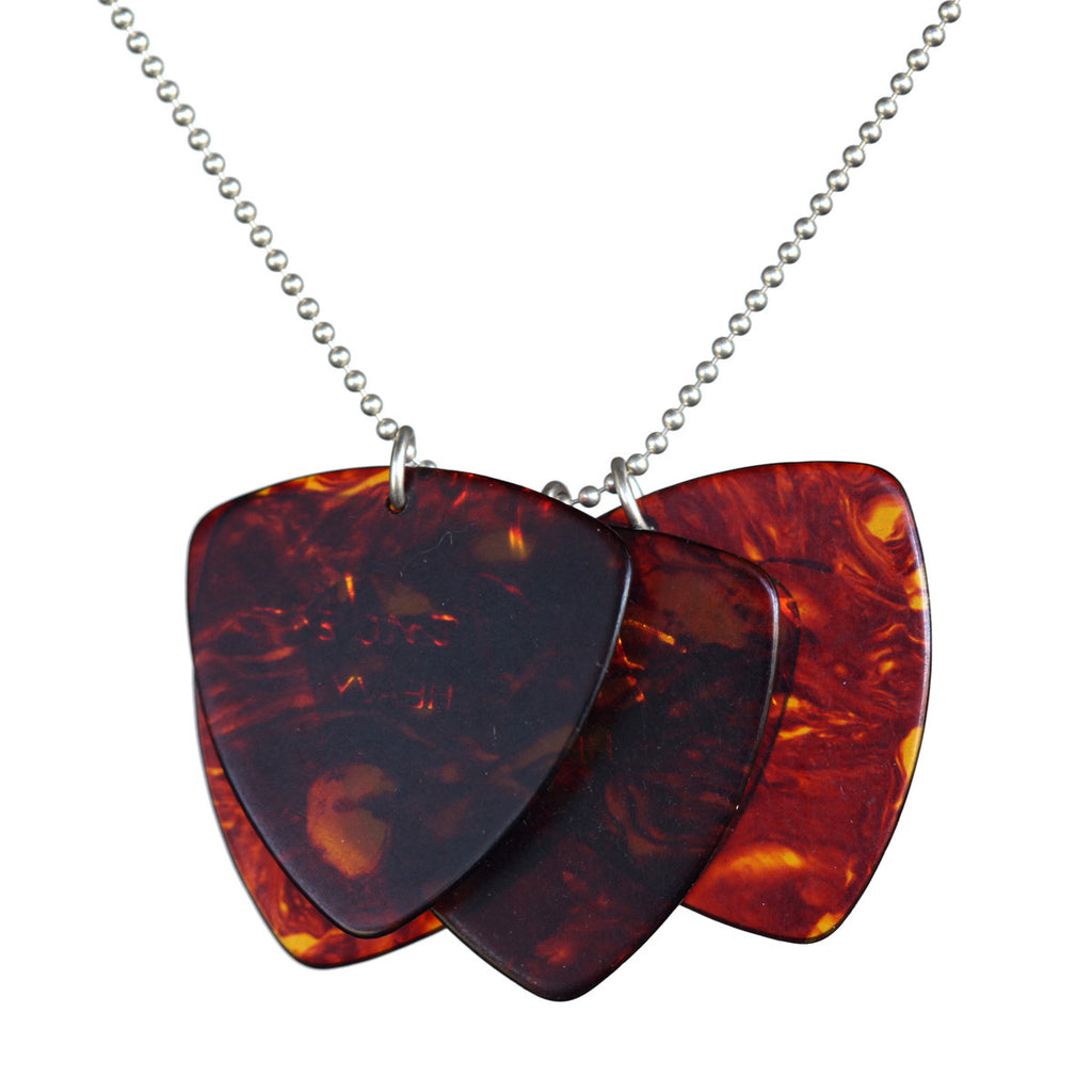Guitar pick multi pendant - Amy Jewelry