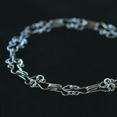 Hook and eye link bracelet