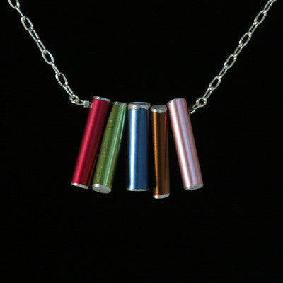 knitting needle five-needle stacked necklace - Amy Jewelry