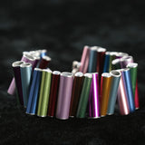 Knitting needle stacked bracelet - Amy Jewelry  - 2
