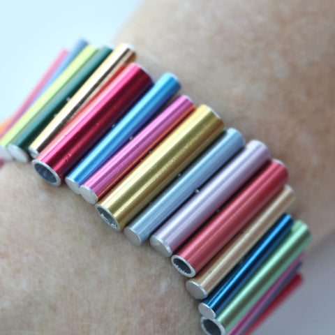 Knitting needle stacked bracelet
