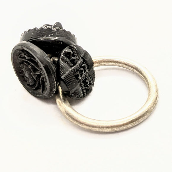 Mourning button ring 4