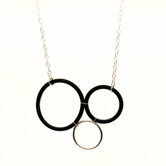 O-ring and sterling ring necklace