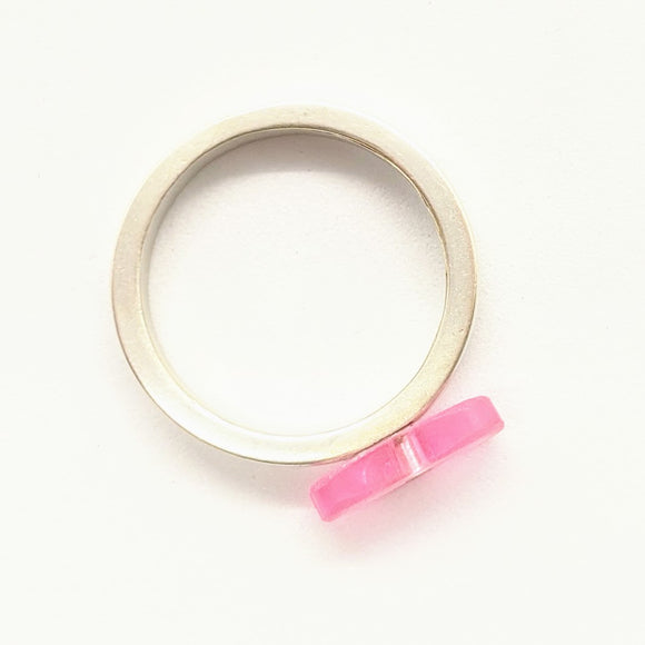 Pink toothbrush ring