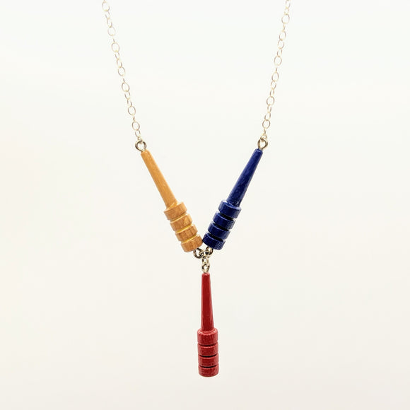 Primary cribbage Y necklace