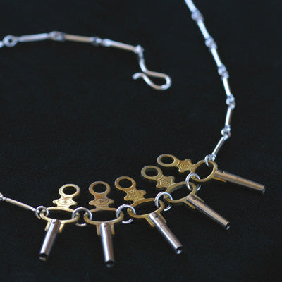 Pocket watch key necklace - Amy Jewelry