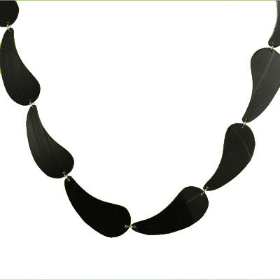 Salvaged vinyl record link necklace - Amy Jewelry