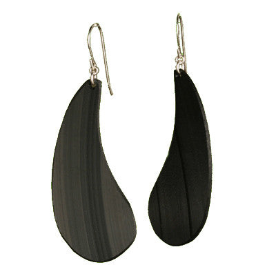 Large salvaged vinyl record earrings