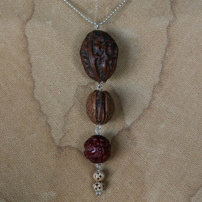 Seed pendant on sterling silver chain