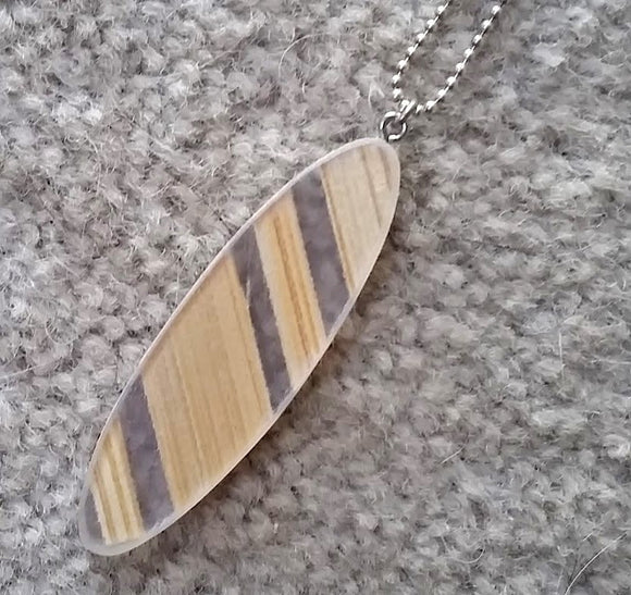 Small recycled plastic bamboo pendant - Amy Jewelry