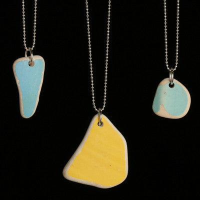 Tumbled ceramic pendant