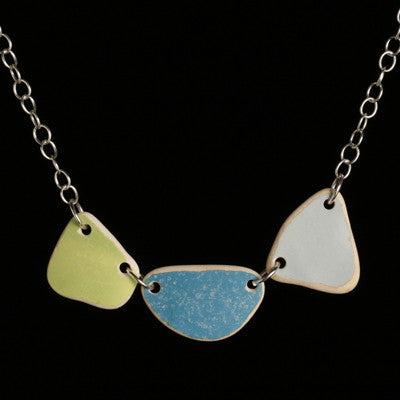 Small tumbled ceramic necklace