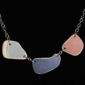 Large tumbled ceramic necklace - Amy Jewelry
