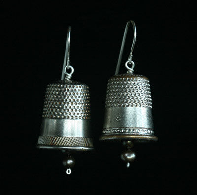 thimble earrings - Amy Jewelry