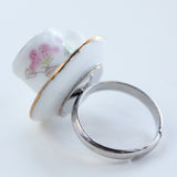 Tea cup ring - Amy Jewelry  - 2