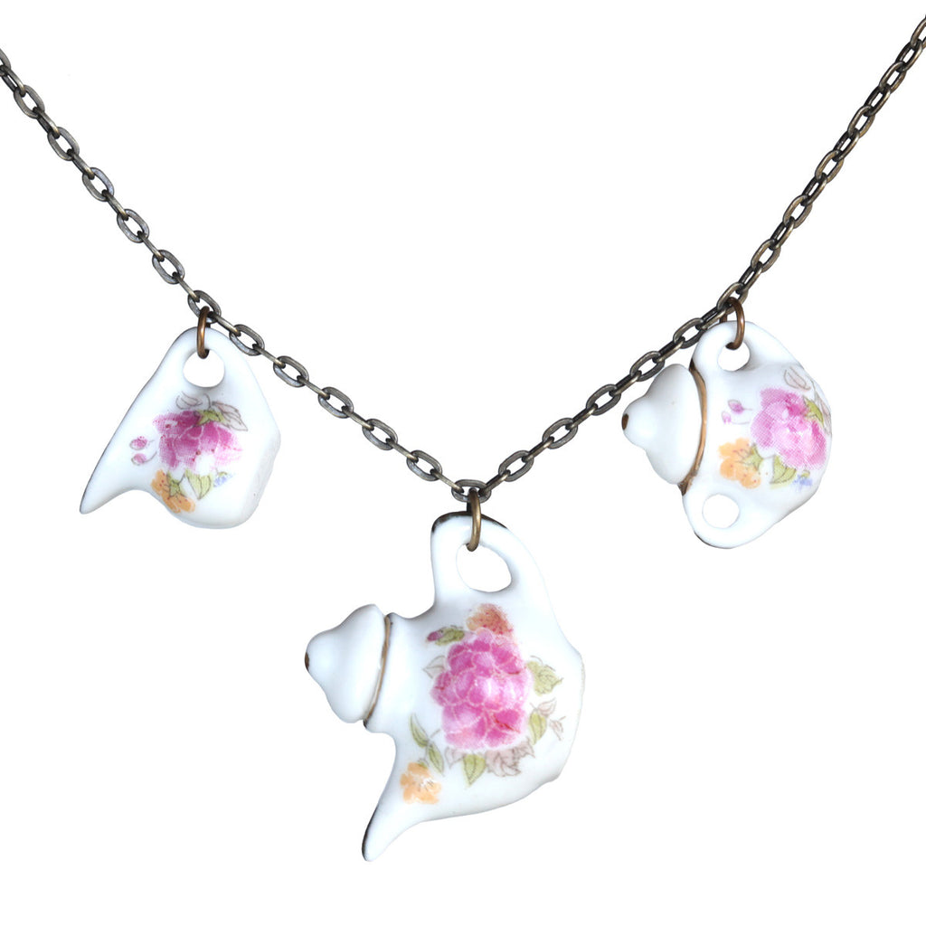 Tea set necklace - Amy Jewelry