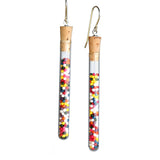 Shredded money test tube earrings - Amy Jewelry  - 6