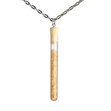 Sugar test tube pendant on steel chain - Amy Jewelry  - 1