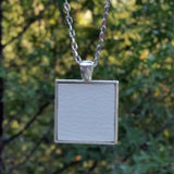 Silver-plated upholstery pendant - Amy Jewelry  - 3