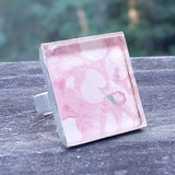 Vintage floral wallpaper silver-plated ring - Amy Jewelry  - 1