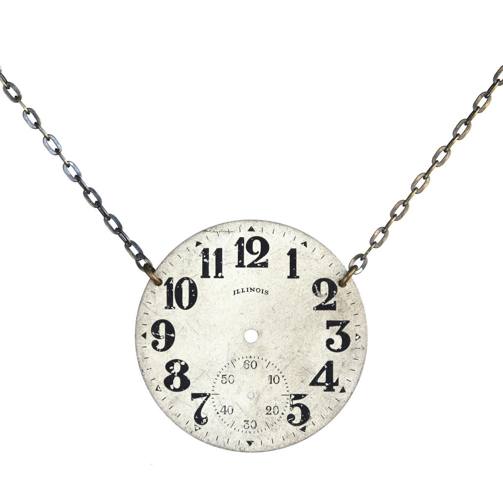 Vintage pocket watch necklace - Amy Jewelry