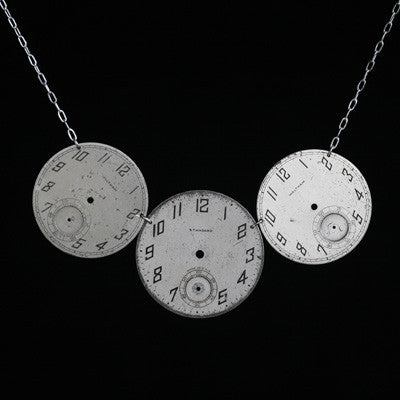 triple pocketwatch necklace - Amy Jewelry
