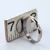Wooden ruler ring with steel shank - Amy Jewelry  - 2