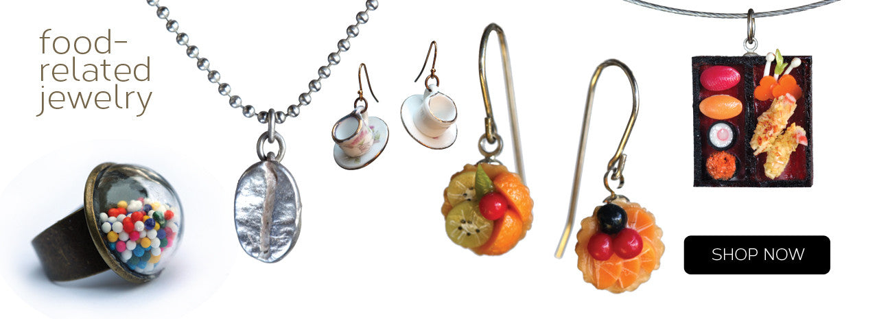 image of food-related jewelry on amyjewelry.com
