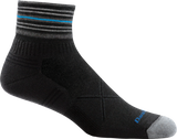 Darn Tough 1007 Men's Merino Wool Vertex 1/4 Sock Height Ultra-Light Socks Black