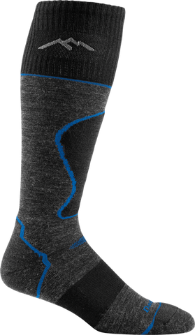Darn Tough Merino Wool Alpine Ski Over-the-Calf Padded Ultralight Sock - Men's Black 2X-Large