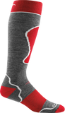 Men's Darn Tough OTC Padded Ultra Light Ski Sock-Grey/Red-US Size XL