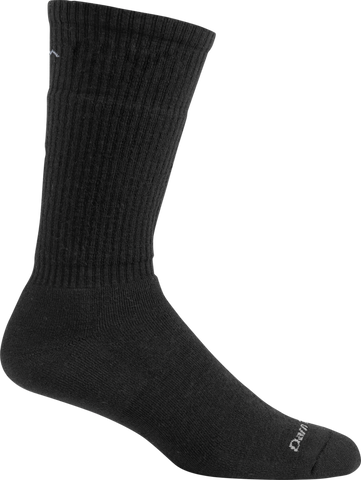 Darn Tough Standard Issue Mid-Calf Cushion Socks - Men's Black