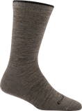 Darn Tough Solid Basic Crew Light Socks - Women's Taupe Small