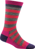 Darn Tough Good Witch Crew Light Socks - Women's Roxanne Raspberry Small