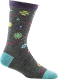 Darn Tough Garden Crew Light Socks - Women's Medium Gray Small