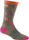 Darn Tough Vermont Women's Spring Garden Crew Light Cushion Hiking Socks, Taupe, Small