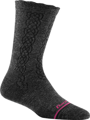 Darn Tough Cable Basic Crew Light Sock - Women's Charcoal Small