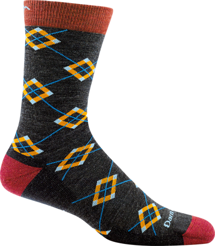 Darn Tough Argyle Light Cushion Socks - Men's Charcoal X-Large