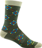 Darn Tough Argyle Light Cushion Socks - Men's Moss X-Large