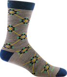 Darn Tough Argyle Light Cushion Socks - Men's Taupe X-Large