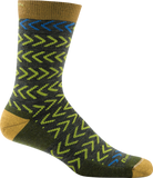 Darn Tough Chevrons Crew Socks - Men's Green X-Large