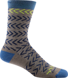 Darn Tough Chevrons Crew Socks - Men's Taupe X-Large