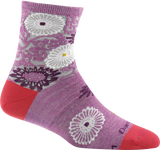 Darn Tough Floral Shorty Light Sock - Women's Violet Small