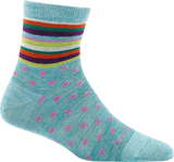 Darn Tough Strot Short Light Sock - Women's Aqua Small