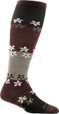 Darn Tough Flowers Knee High Light Sock - Women's Brown Small
