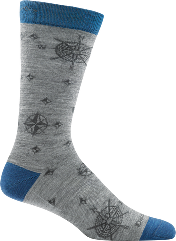 Darn Tough Compass Crew Light Sock - Men's Gray X-Large